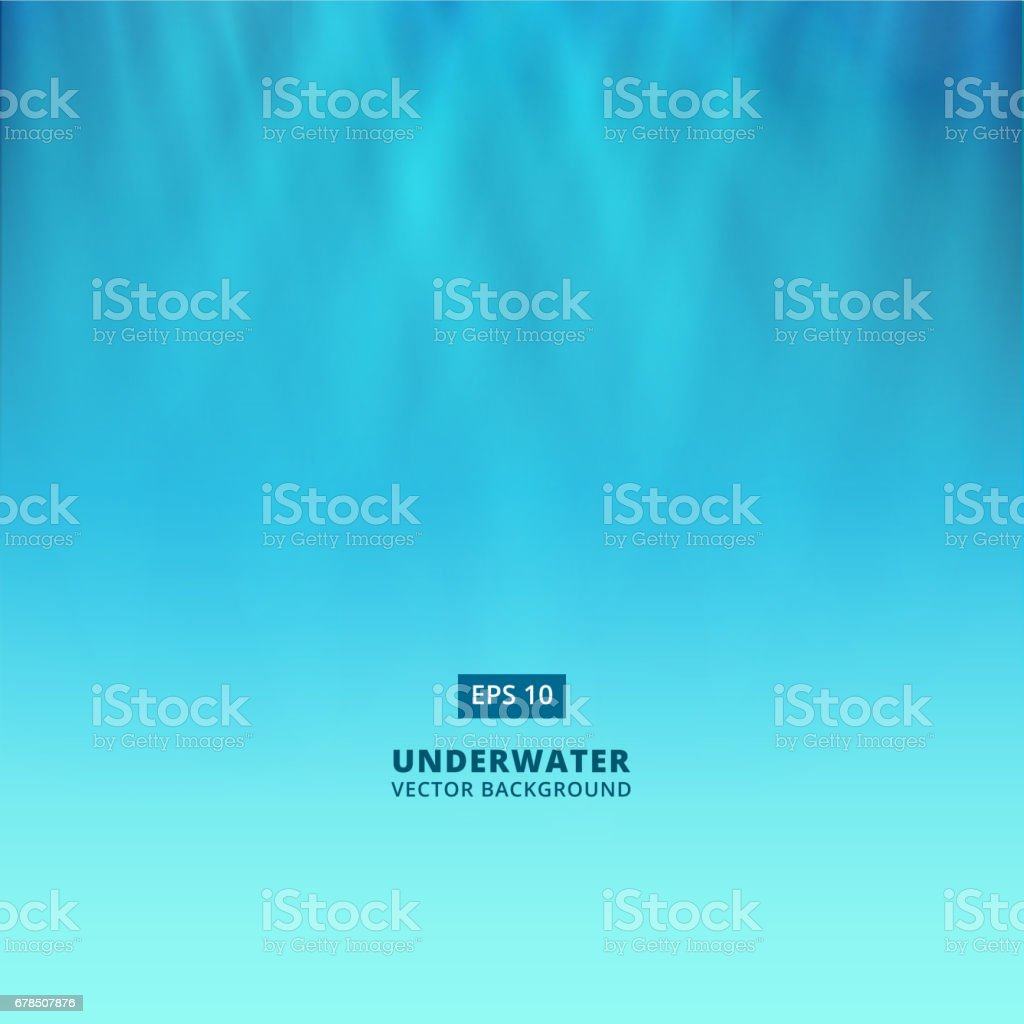 Underwater scene with light from above vector background vector art illustration