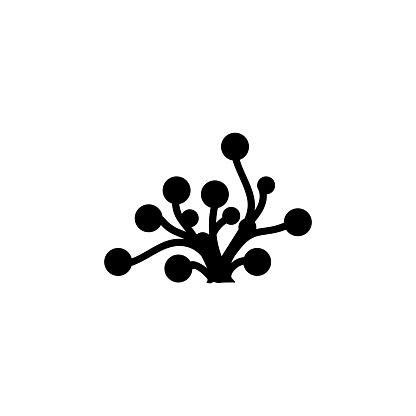Underwater Seaweed. Aquatic Marine Algae Plant. Flat Vector Icon illustration. Simple black symbol on white background. Underwater Seaweed. Algae sign design template for web and mobile UI element.