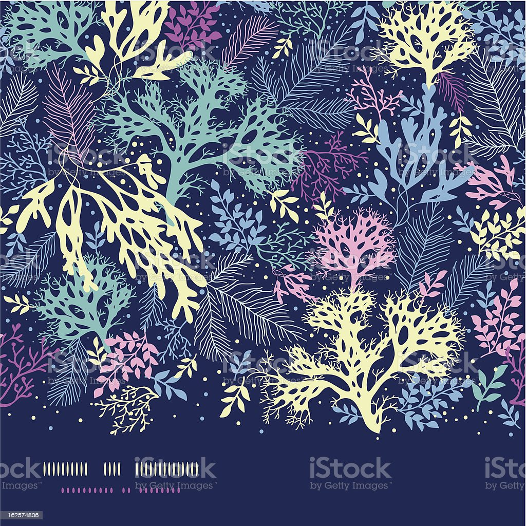 Underwater seaweed horizontal seamless pattern background vector art illustration