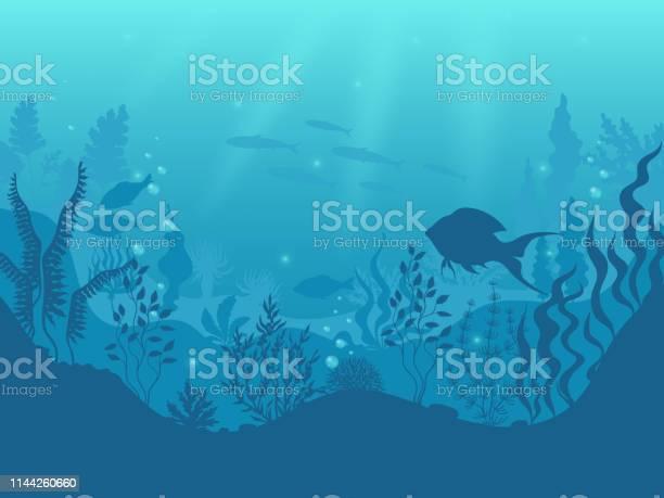 Underwater silhouette background undersea coral reef ocean fish and vector id1144260660?b=1&k=6&m=1144260660&s=612x612&h=z23xv4gyno5jbrxbvvfycppbpe0jyl0mv3rw kqasiq=