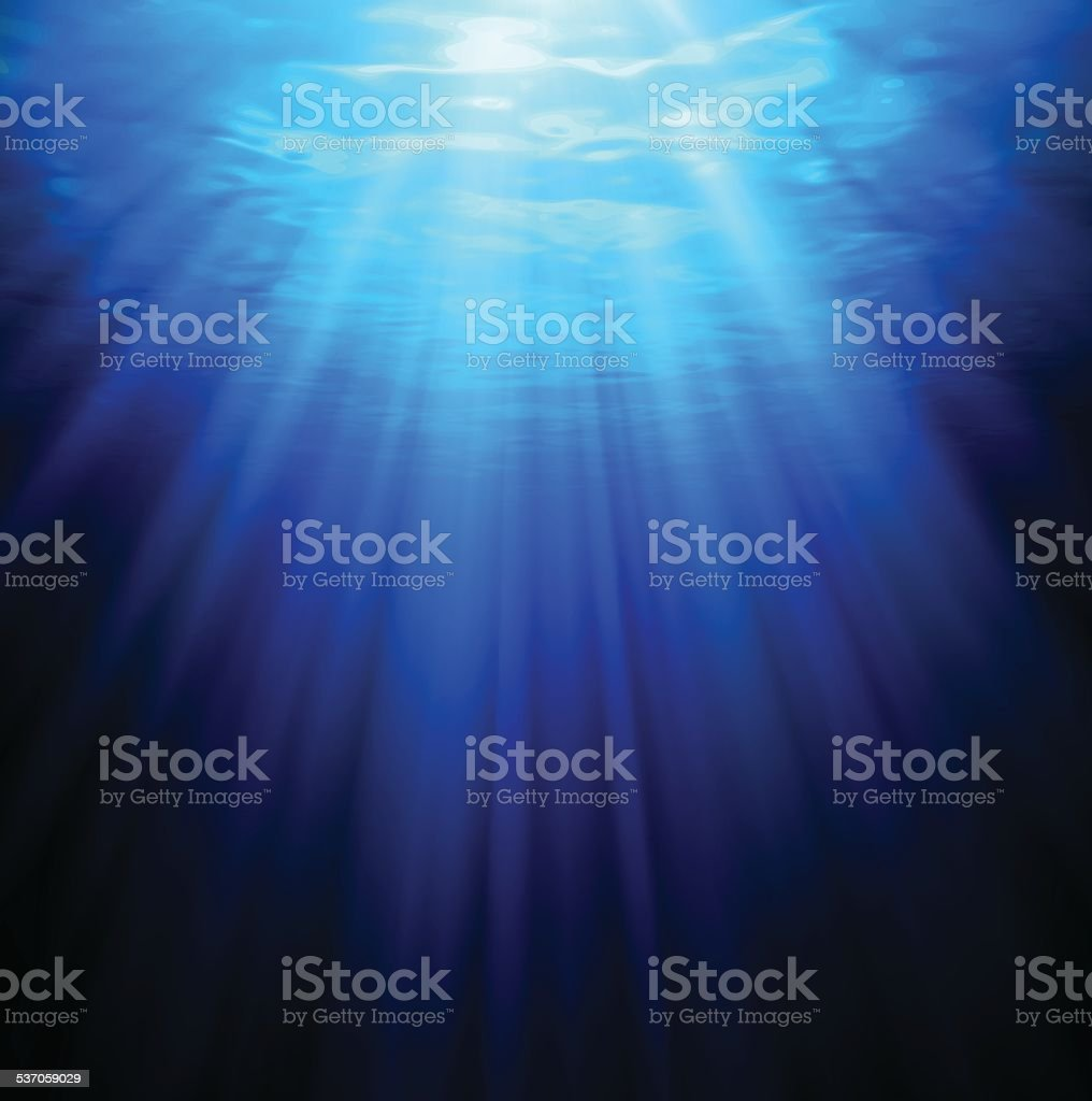 Underwater vector art illustration