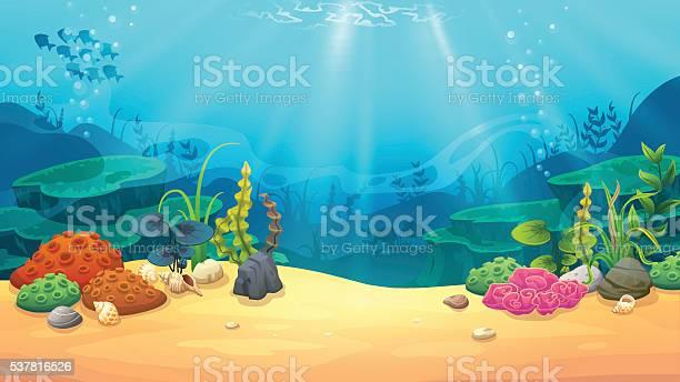 Underwater World Stock Illustration - Download Image Now