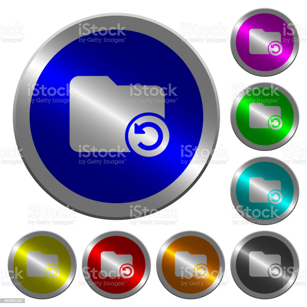 Undo directory last operation luminous coin-like round color buttons