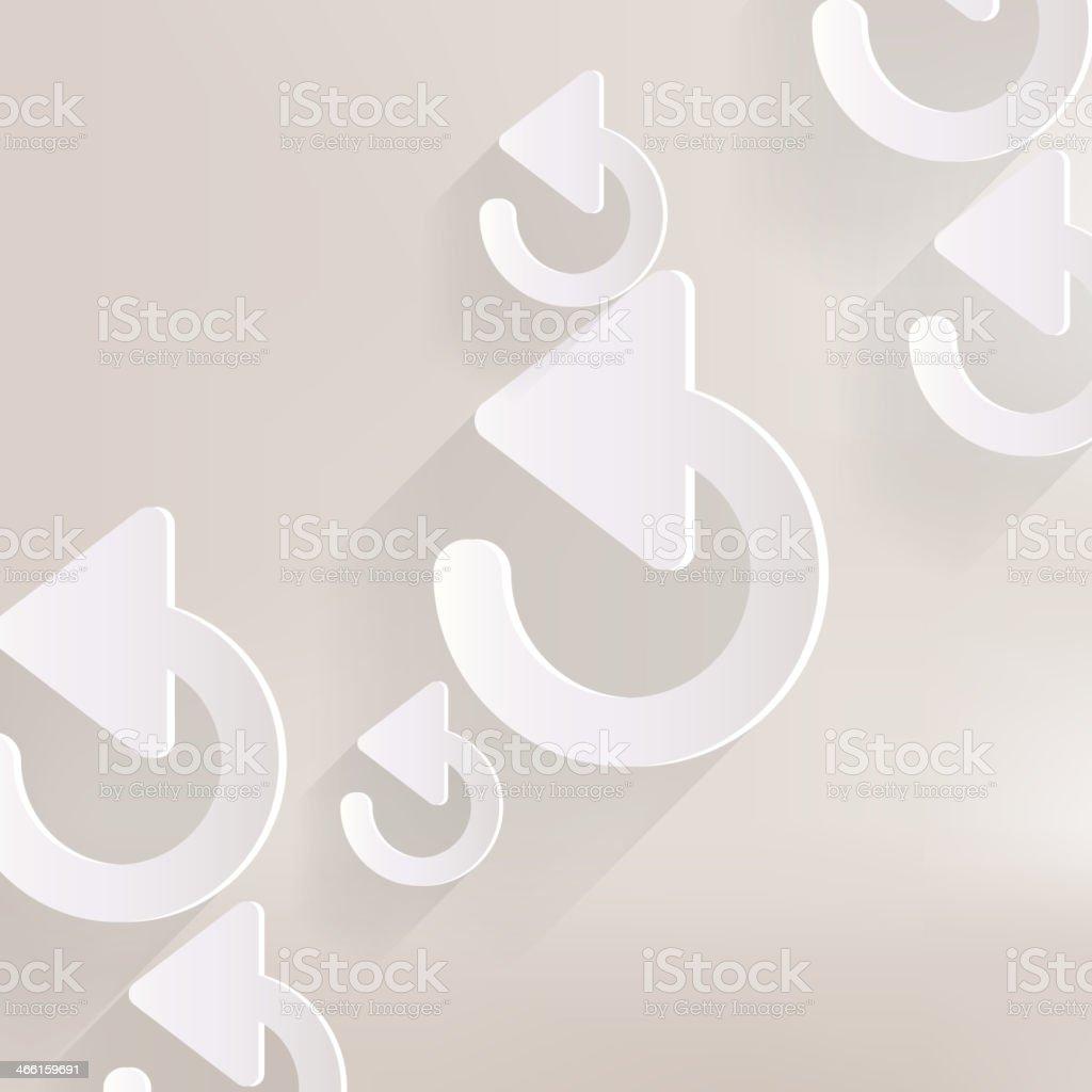 Undo icon, back arrow symbol royalty-free stock vector art
