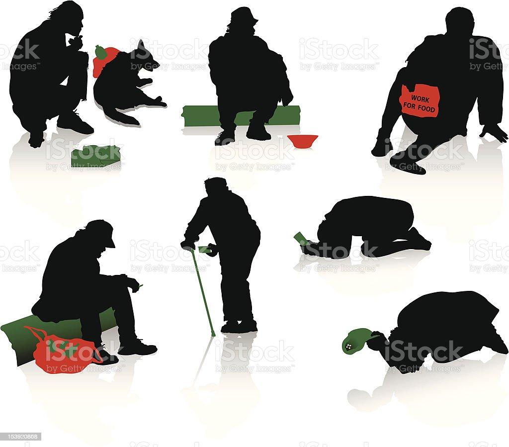Unemployments people vector art illustration