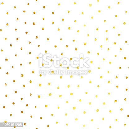 Abstract white paper background full of golden dots! Zoom to see the details. All in shades of yellow and brown.  Seamless texture background - duplicate it vertically and horizontally to get unlimited area. Vector file - enlarge without losing quality.