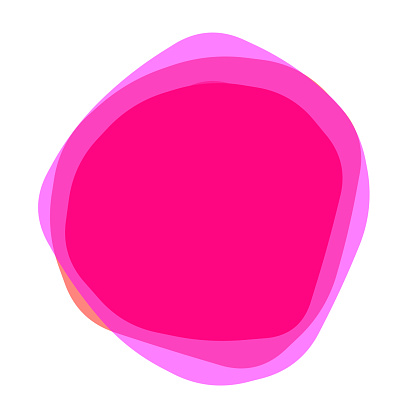 Uneven solid purple pink stacked multiple blobs with round corners, transparent