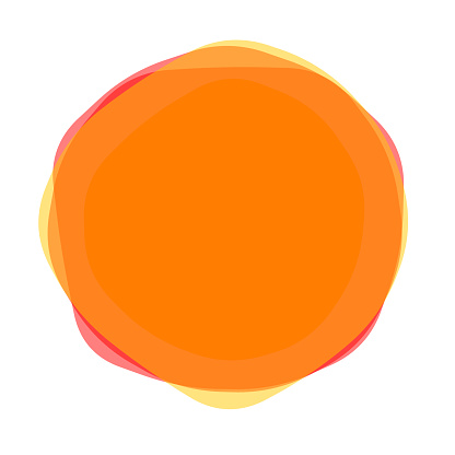 Uneven solid stacked multiple blobs, yellow to orange, with round corners