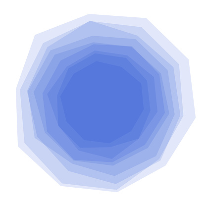 Uneven solid stacked multiple polygons, transparent
