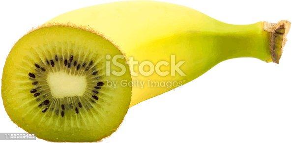 Super fruit. Banana and kiwi combination