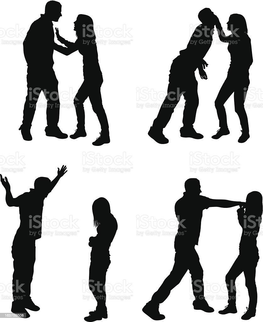 不幸せなカップルのけんか口論 のイラスト素材 165750508 | istock