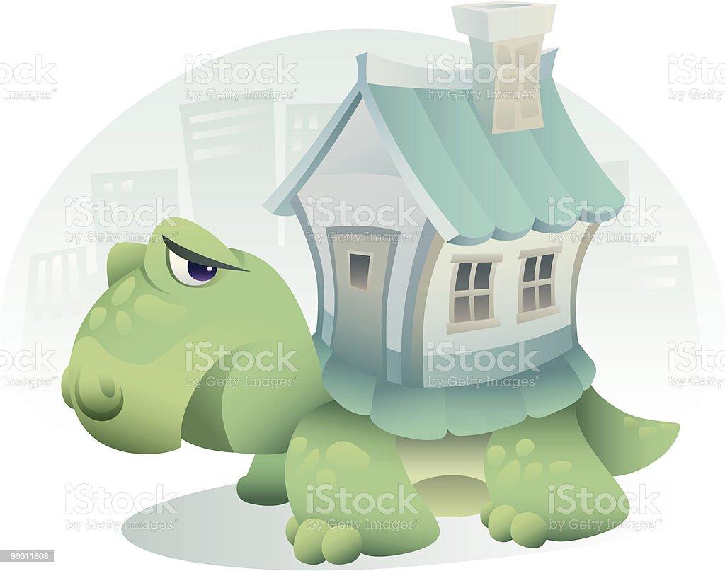 Unglücklich Landschildkröte - Lizenzfrei Architektur Vektorgrafik
