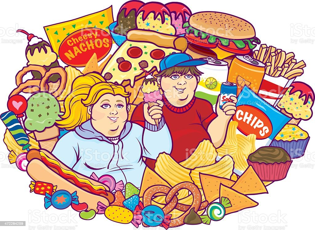 Unhealthy Eating Children White