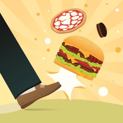 Unhealthy eating kick