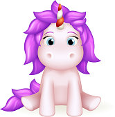 Unicorn cute toy cartoon 3d character design vector illustration