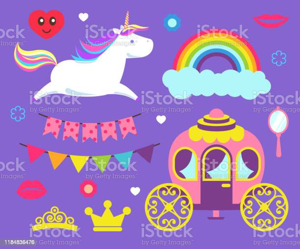 Unicorn and rainbow princess party set vector vector id1184836476?b=1&k=6&m=1184836476&s=612x612&h=tbrmjoxxuzi8hoadej zsrektv4zosoijktf1dgfzb4=