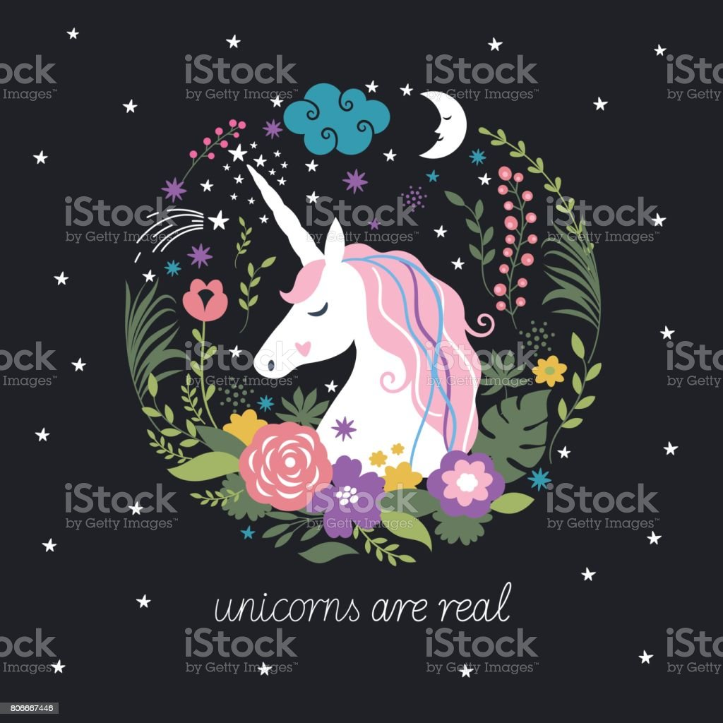 Unicorn are real vector art illustration