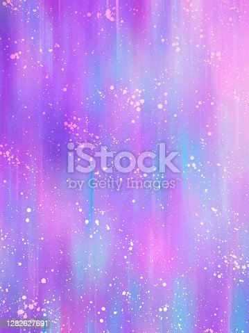 istock Unicorn background. Fantasy gradient backdrop with hologram. Vector illustration for poster, brochure, invitation, cover book 1282627691