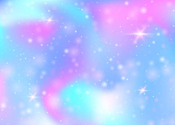 unicorn background with rainbow mesh. - rainbow glitter background stock illustrations