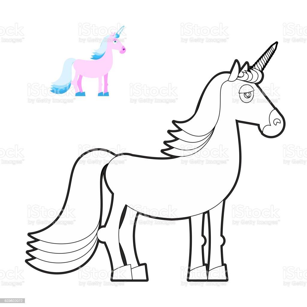 Ilustración de Unicornio Libro De Colorear Excelente Animal En ...