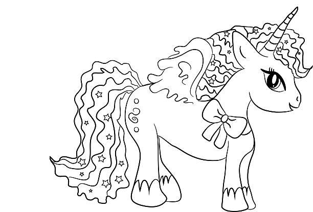 Vectores de Coloring Book Unicorn y Illustraciones Libre de Derechos ...