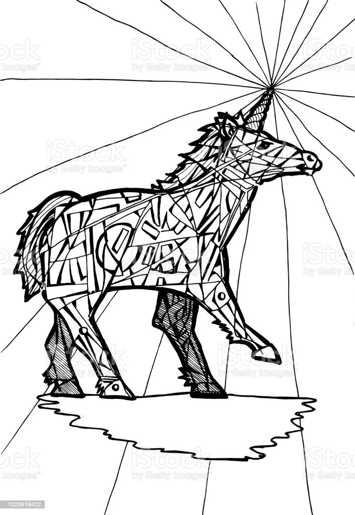 Free Unicorn | Coloring Pages For Adults, Download Free Clip Art ... | 1024x707