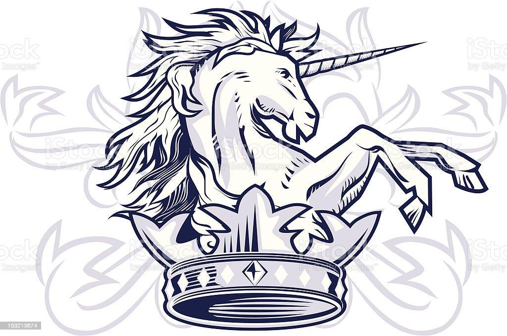Unicorn Crown royalty-free stock vector art