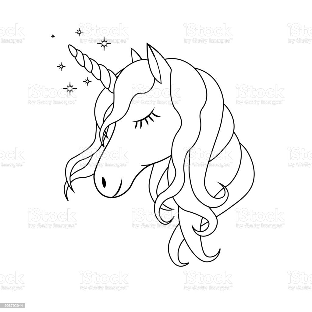 Vetores De Desenhos Animados Bonitos Do Unicórnio Em Estilo Simples E Mais Imagens De Animal
