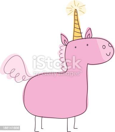 istock Unicorn Doodle 188141656