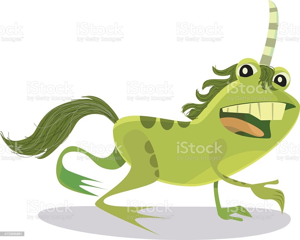 Unicorn Frog royalty-free stock vector art