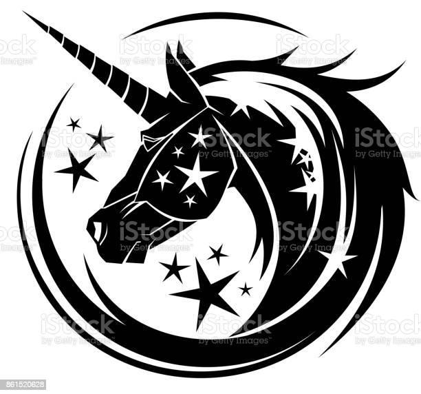 Unicorn head circle tattoo illustration vector id861520628?b=1&k=6&m=861520628&s=612x612&h=mxr 1ygl dk18qebrqa3lqb7fedeky7wzesaio80jvi=