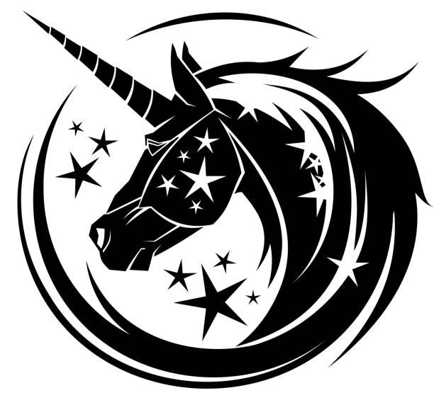 Unicorn Head Illustrations, Royalty-Free Vector Graphics ...
