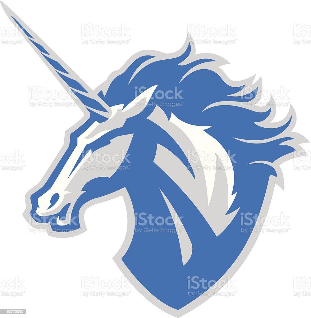 Unicorn Head vector art illustration