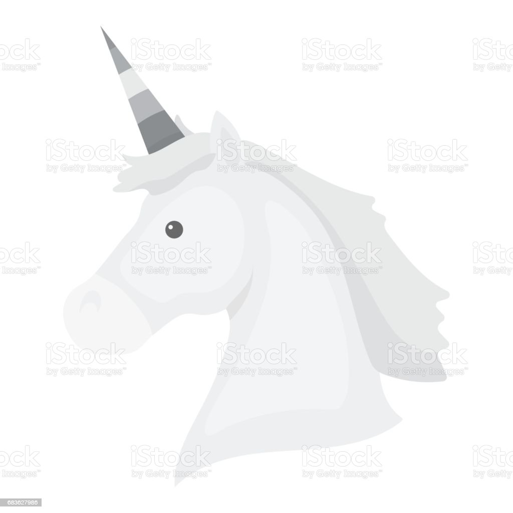 Unicorn icon monochrome. Single gay icon from the big minority, homosexual monochrome. vector art illustration