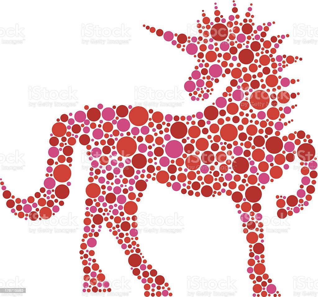 Unicorno Rosa Pois Isolato Su Sfondo Bianco Illustrazione Immagini