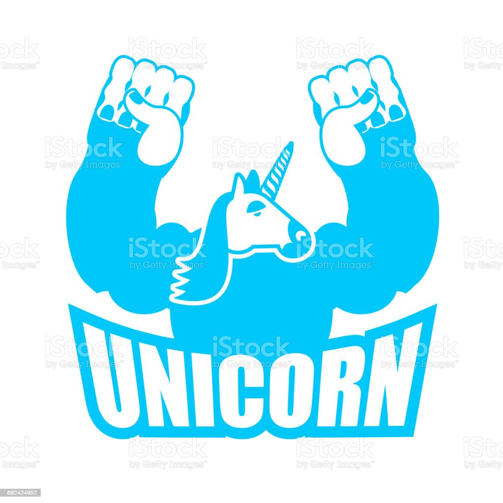 Unicorn is strong and angry. Powerful and Aggressive magic monster. Symbol sports team royalty-free unicorn is strong and angry powerful and aggressive magic monster symbol sports team stock vector art & more images of animal