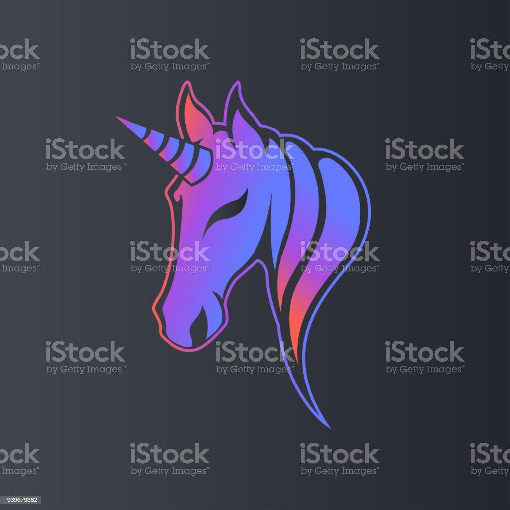 unicorn logo icon design, vector illustration vector art illustration