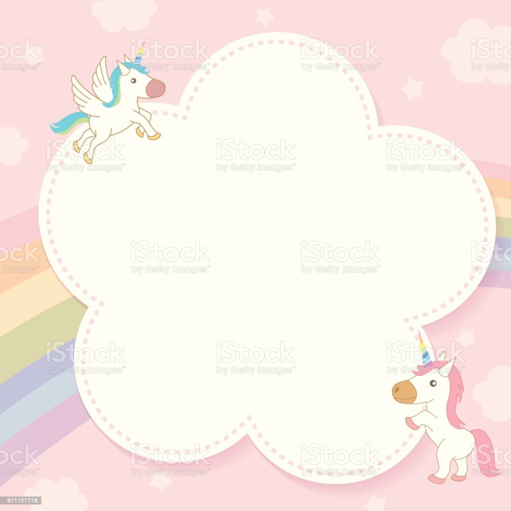 unicorn notepad vector art illustration