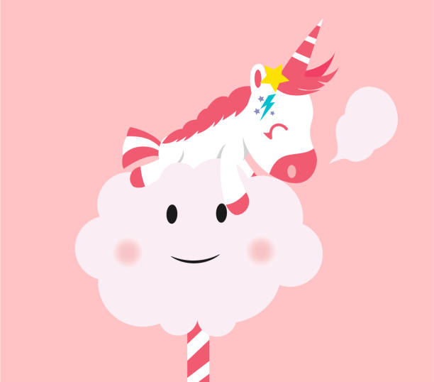 Royalty Free Cotton Candy Clouds Clip Art, Vector Images ...