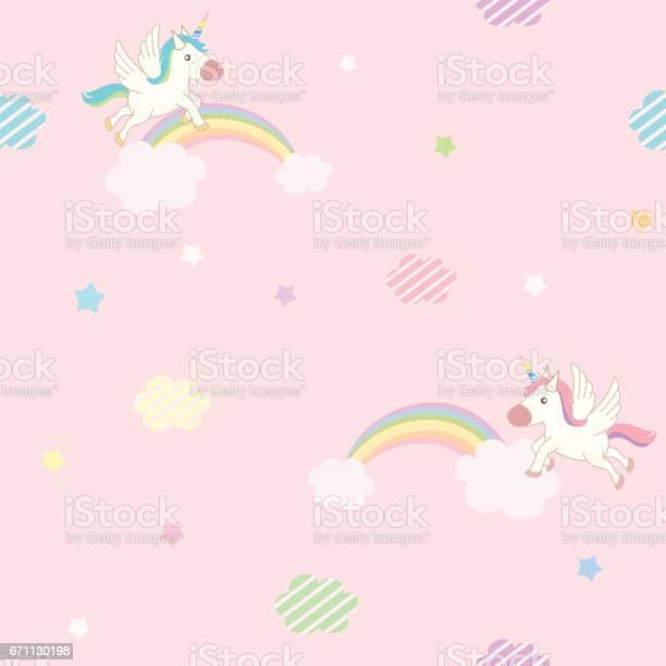 Unicorn pink sky pattern vector id671130198?b=1&k=6&m=671130198&s=612x612&h=xgv5dbtbouebba1kymtub0 kj7rv1xiqis8jz8yvoxg=