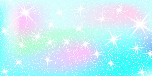 Unicorn Rainbow Background Holographic Sky In Pastel Color ...