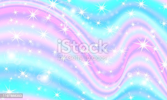istock Unicorn rainbow. Vector. Fantasy universe 1197888353