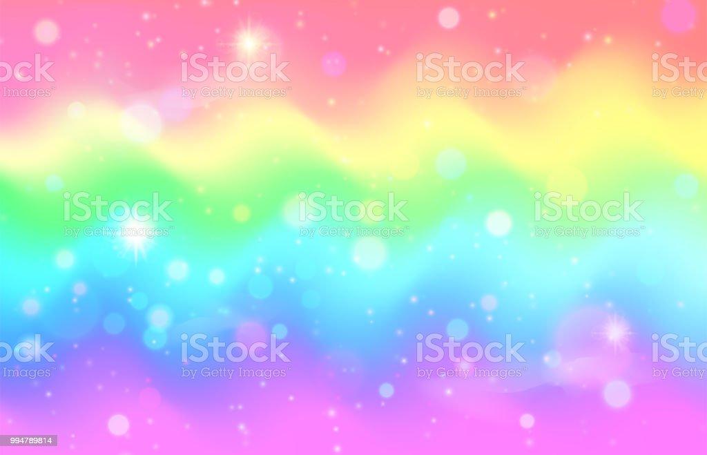 unicorn rainbow wave background mermaid galaxy pattern vector id994789814