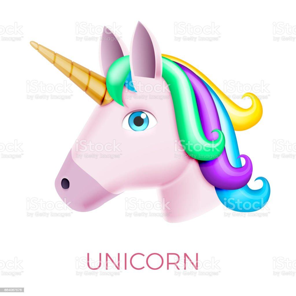 Unicorn Realistic Vector Icon royalty-free unicorn realistic vector icon stock vector art & more images of animal