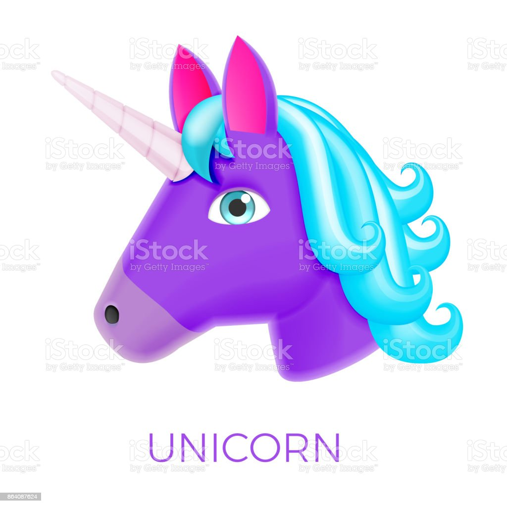 Unicorn Realistic Vector Icon royalty-free unicorn realistic vector icon stock vector art & more images of animal