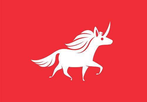 unicorn running symbol