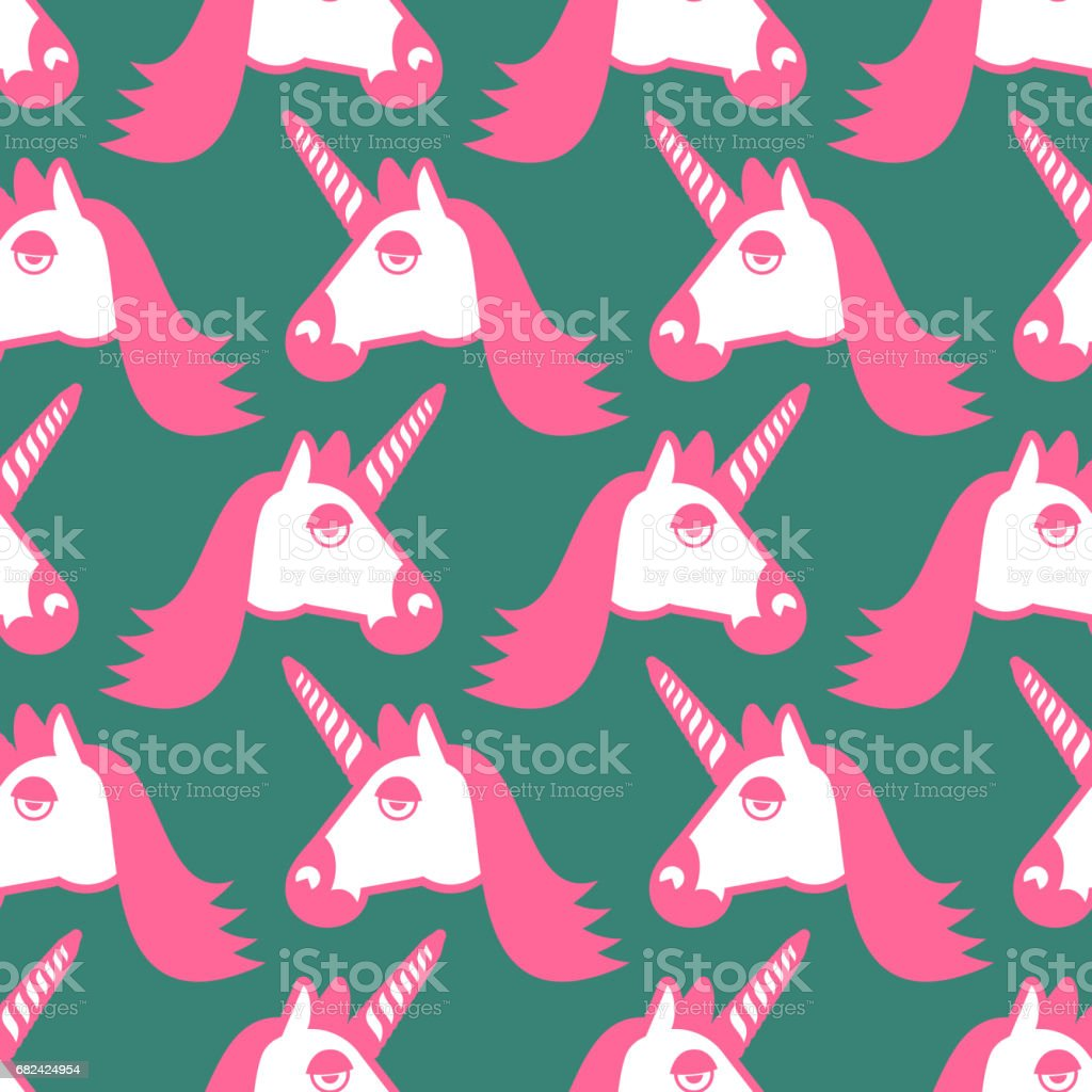 Unicorn seamless pattern. Head of fantastic animal background. Magic beast texture royalty-free unicorn seamless pattern head of fantastic animal background magic beast texture stock vector art & more images of animal