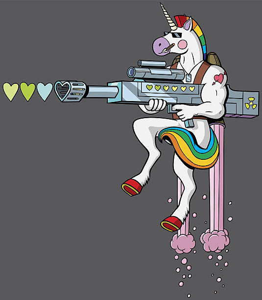 Unicorn Soldier - Illustration vectorielle
