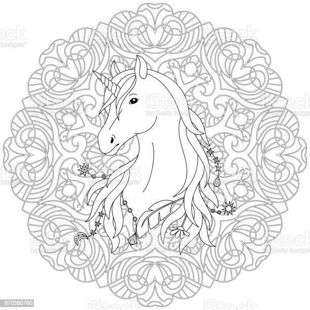 Page De Coloriage Tatouage Licorne Vecteurs Libres De Droits Et Plus D Images Vectorielles De Abstrait Istock