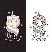 Unicorn vector icon